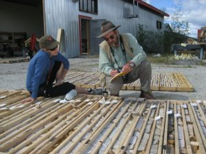 GC & Hanne Paulsen with drill core in The Yukon
