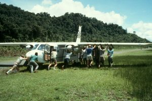 Bogged plane at Frieda PNG